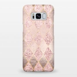 Galaxy S8+  Rose Gold Glitter Argyle by Utart