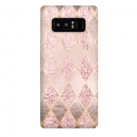 Galaxy Note 8  Rose Gold Glitter Argyle by
