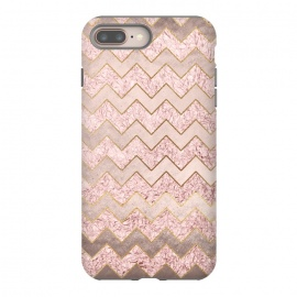 iPhone 8/7 plus  Rose Gold Glitter chevron by Utart