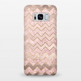 Galaxy S8+  Rose Gold Glitter chevron by Utart