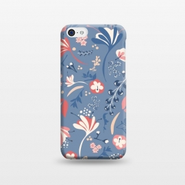 iPhone 5C  Beautiful BC Blooms in Blue and Pink by Paula Ohreen