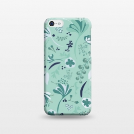 iPhone 5C  Beautiful Blooms on Teal by Paula Ohreen