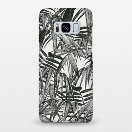 Galaxy S8+  Vintage Palm Leaves Black And White by Andrea Haase