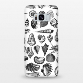 Galaxy S8+  Vintage Seashell Collection Black And White by Andrea Haase
