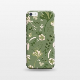 iPhone 5C  Beautiful Blooms on Green by Paula Ohreen