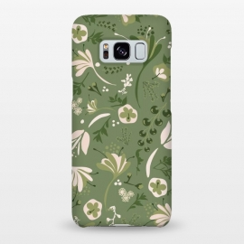 Galaxy S8+  Beautiful Blooms on Green by Paula Ohreen