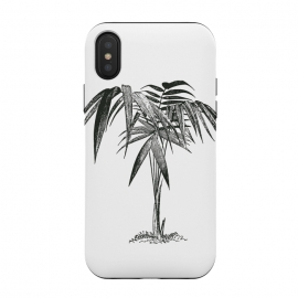 Black And White Vintage Palm Tree by Andrea Haase