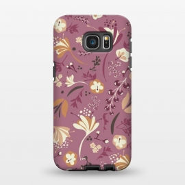 Galaxy S7 EDGE  Beautiful Blooms on Plum by Paula Ohreen
