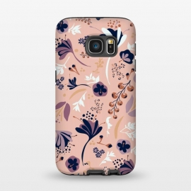 Galaxy S7  Beautiful Blooms on Salmon Pink by Paula Ohreen