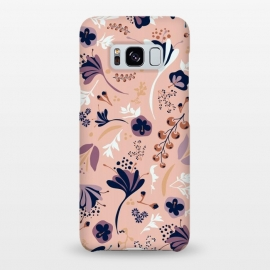 Galaxy S8+  Beautiful Blooms on Salmon Pink by Paula Ohreen