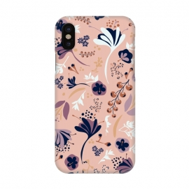 iPhone X  Beautiful Blooms on Salmon Pink by Paula Ohreen