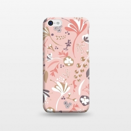 iPhone 5C  Beautiful Blooms in Pink and Purple by Paula Ohreen