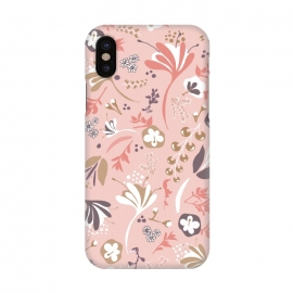 iPhone X  Beautiful Blooms in Pink and Purple by Paula Ohreen