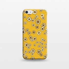 iPhone 5C  Ditsy Daisies on Mustard by Paula Ohreen