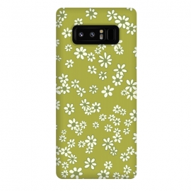 Galaxy Note 8  Ditsy Daisies on Green by Paula Ohreen