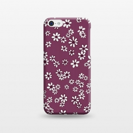iPhone 5C  Ditsy Daisies on Purple by Paula Ohreen