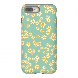 iPhone 8/7 plus  Ditsy Daisies on Teal by Paula Ohreen