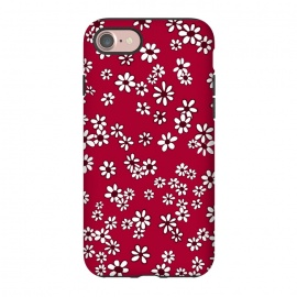 iPhone 8/7  Ditsy Daisies on Bright Pink by Paula Ohreen
