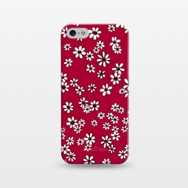 iPhone 5/5E/5s  Ditsy Daisies on Bright Pink by Paula Ohreen