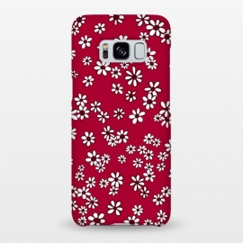 Galaxy S8+  Ditsy Daisies on Bright Pink by Paula Ohreen