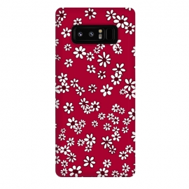 Galaxy Note 8  Ditsy Daisies on Bright Pink by