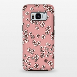 Galaxy S8 plus  Ditsy Daisies on Pink by