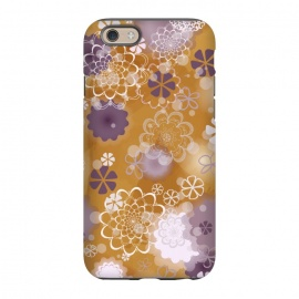 iPhone 6/6s  Lacy Flowers on Mustard by Paula Ohreen