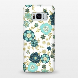 Galaxy S8+  Magical Meadow in White and Green by Paula Ohreen