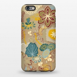 iPhone 6/6s plus  Paper-Cut Florals on Gold by Paula Ohreen