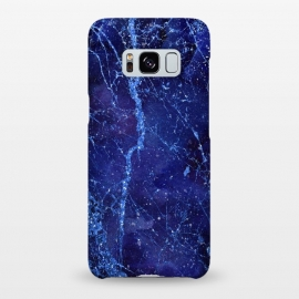 Galaxy S8+  Blue Marbled Glitter by Andrea Haase