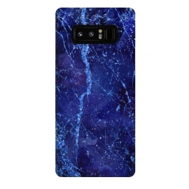 Galaxy Note 8  Blue Marbled Glitter by