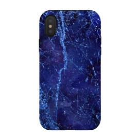 iPhone X  Blue Marbled Glitter by Andrea Haase
