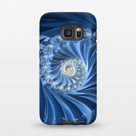 Galaxy S7  Glamorous Blue Fractal by Andrea Haase