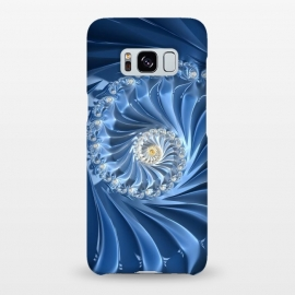 Galaxy S8+  Glamorous Blue Fractal by Andrea Haase