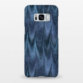 Galaxy S8+  Blue Wbstract Waves by Andrea Haase