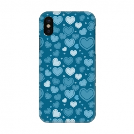 iPhone X  Blue Hearts by TMSarts