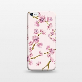 iPhone 5C  Pink Spring Cherry Blossom Pattern by Utart