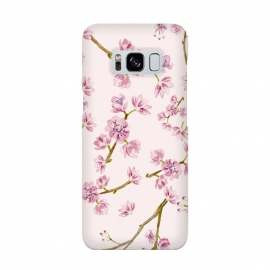 Pink Spring Cherry Blossom Pattern by Utart
