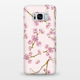 Galaxy S8+  Pink Spring Cherry Blossom Pattern by Utart