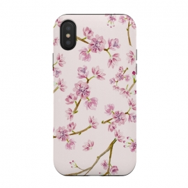 iPhone Xs / X  Pink Spring Cherry Blossom Pattern by