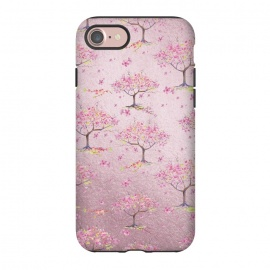 iPhone 8/7  Pink Metal Cherry Blossom Trees Pattern by Utart