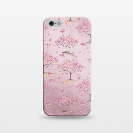 iPhone 5/5E/5s  Pink Metal Cherry Blossom Trees Pattern by Utart