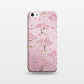 iPhone 5C  Pink Metal Cherry Blossom Trees Pattern by Utart