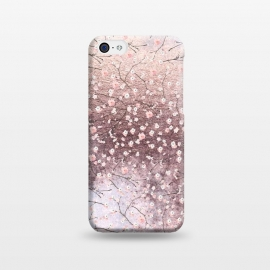 iPhone 5C  Metal vintage Pink Cherry Blossom Pattern by Utart