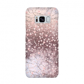 Metal vintage Pink Cherry Blossom Pattern by Utart