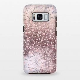 Galaxy S8+  Metal vintage Pink Cherry Blossom Pattern by Utart