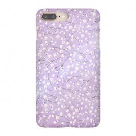 iPhone 8/7 plus  Purple Watercolor Spring Cherry Blossom Pattern by Utart