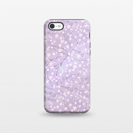 iPhone 5C  Purple Watercolor Spring Cherry Blossom Pattern by Utart