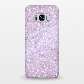 Galaxy S8+  Purple Watercolor Spring Cherry Blossom Pattern by Utart