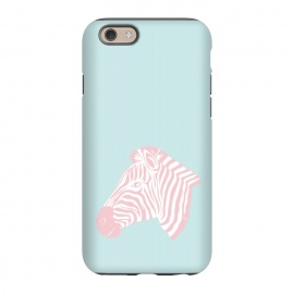 iPhone 6/6s  Pink Zebra by Martina (zebra,animal,nature,girly,feminine,for her,graphic,modern,illustration,pink)